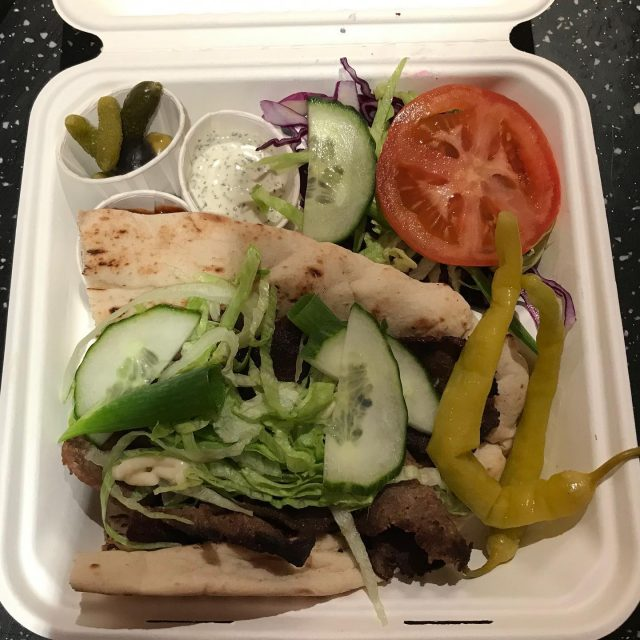 Sometimes, the only thing that'll fill a gap is a #donerkebab 😍❤️  #takeaway #Localfood #Lockdownlife #supportlocal #Pubfood #localpub #lamb #chilli #pitta #garlic #salad #nomnom #SwiftMortgages #TheRoseandCrown @TheRoseandCrownRidgmont